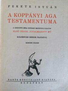 Fekete István - A koppányi aga testamentuma könyv