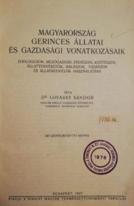 lovassy magyarország gerinnces állatai
