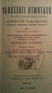 vadászati könyv