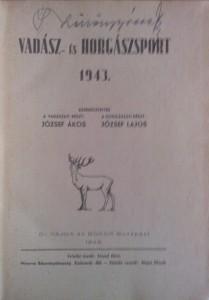 régi vadászkönyv 1943