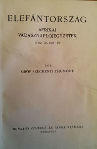 széchenyi zsigmond elefántország