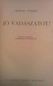ilosvay vadászkönyv