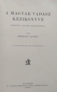 magyar vadász kézikönyve kékessy