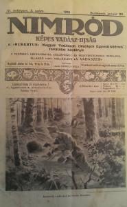 nimród vadászújság 1918 ávfolyam