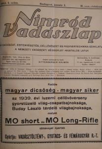 nimród 1941 újság