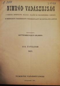 nimród 1931