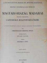 Magyarország madarai chernel istvan