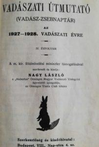 Vadászati útmutató 1927-1928