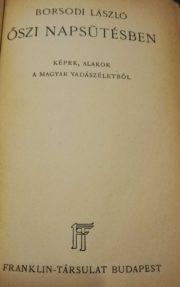 borsodi lászló vadászkönyve
