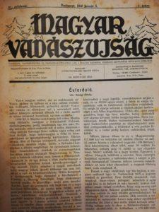 Magyar Vadászujság 1940