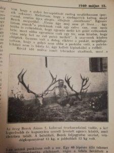 Magyar Vadászujság 1940es evfolyam
