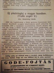 Magyar Vadászujság 1941 evfolyam