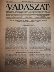 vadászat ujsag 1924