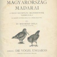 Madarász Gyula, dr.: Magyarország madarai