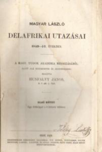 Magyar László délafrikai utazásai