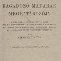 Szemere Zoltán A Magyarországon előforduló ragadozó madarak meghatározója