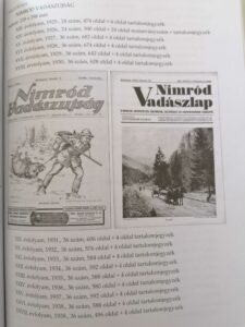 vadászati bibliográfia