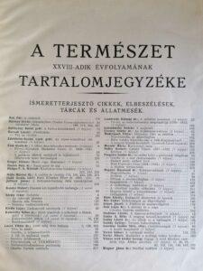 A Természet 1932 allatkerti hirek