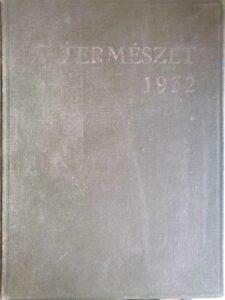 A Természet 1932 tartalomjegyzek